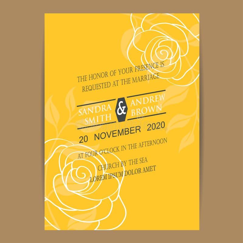 Εκλεκτής ποιότητας κάρτα γαμήλιας πρόσκλησης διανυσματική απεικόνιση