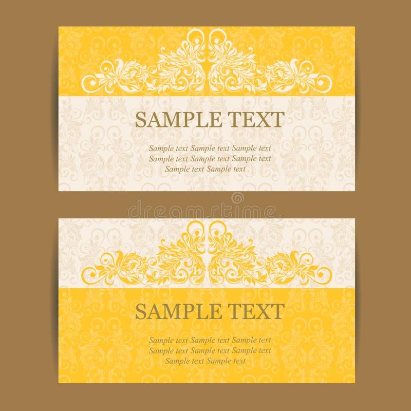 Εκλεκτής ποιότητας κάρτα πρόσκλησης ελεύθερη απεικόνιση δικαιώματος