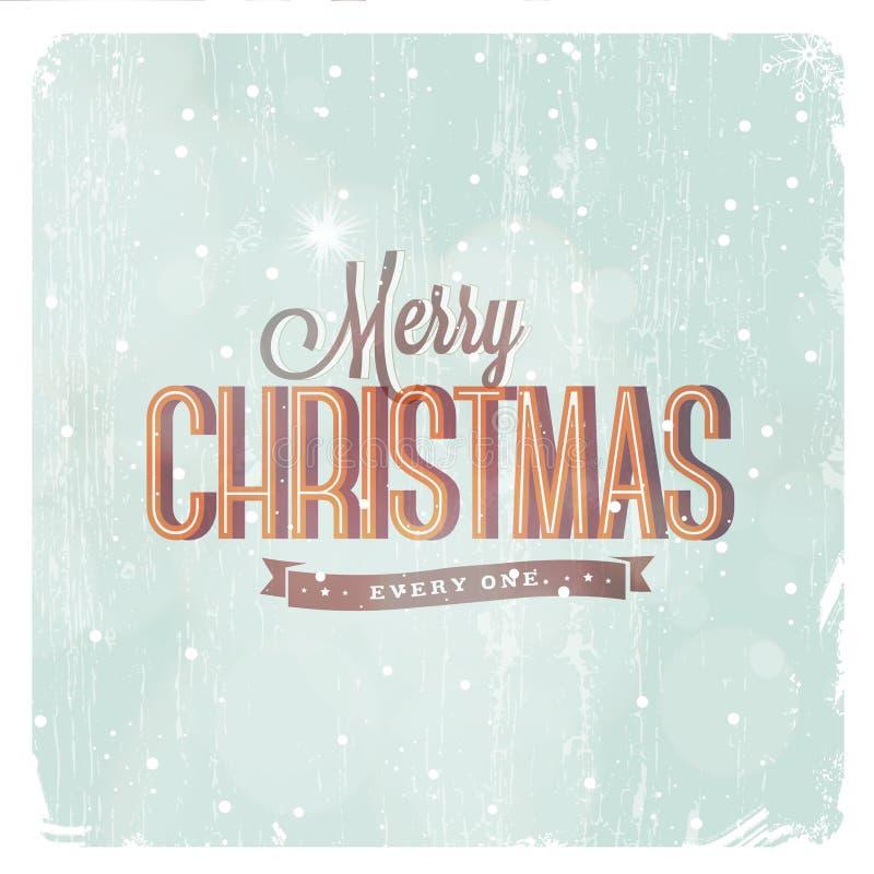 Εκλεκτής ποιότητας κάρτα Χριστουγέννων διανυσματική απεικόνιση