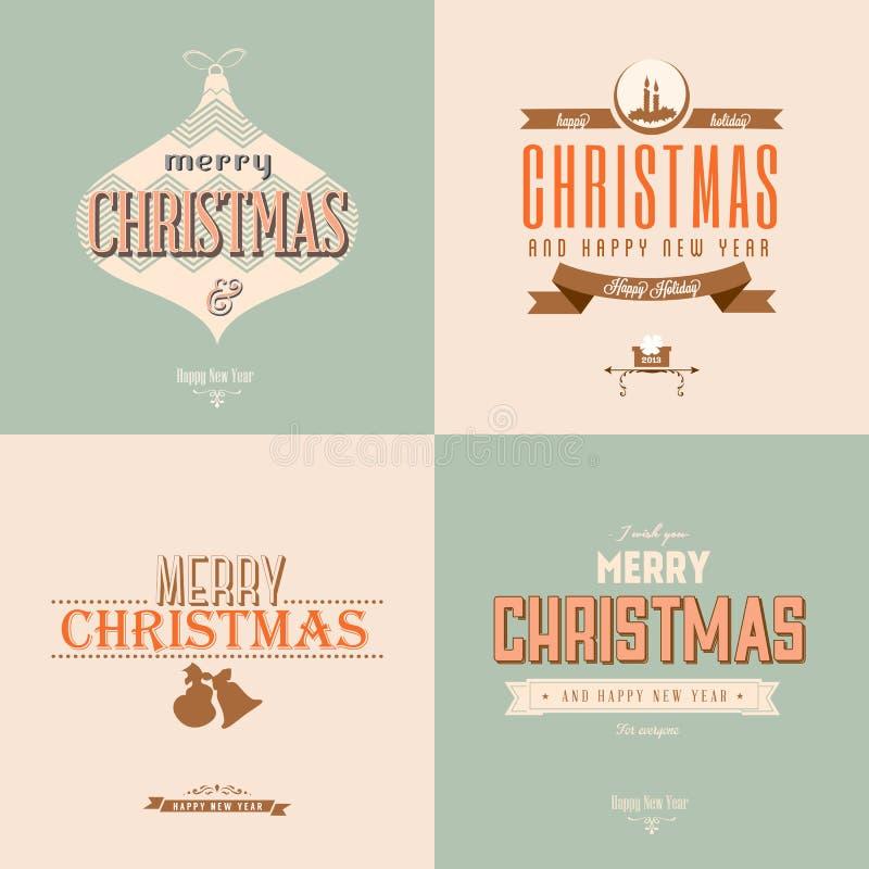 Εκλεκτής ποιότητας κάρτα Χριστουγέννων απεικόνιση αποθεμάτων