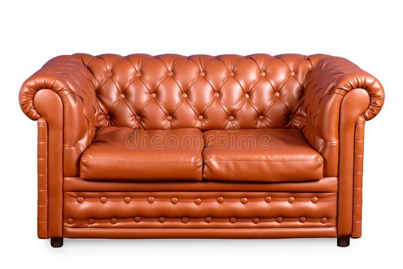 Εκλεκτής ποιότητας καναπές δέρματος στοκ φωτογραφία