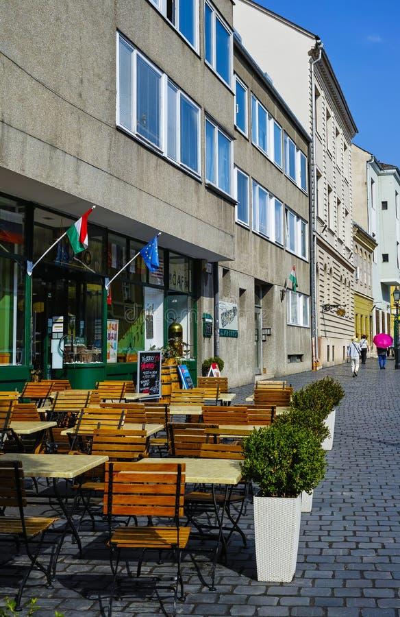 Εκλεκτής ποιότητας καφές στην παλαιά πόλη στοκ εικόνα