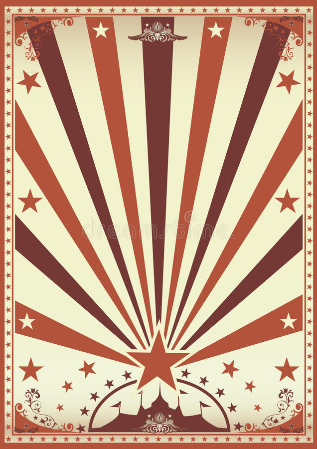 Εκλεκτής ποιότητας καφετιά αφίσα τσίρκων απεικόνιση αποθεμάτων