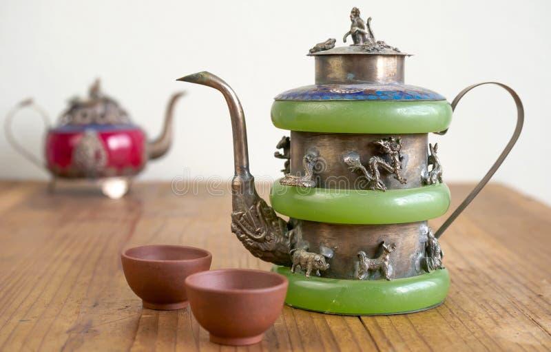 Εκλεκτής ποιότητας κινεζικό teapot φιαγμένο από παλαιό νεφρίτη στοκ εικόνες με δικαίωμα ελεύθερης χρήσης
