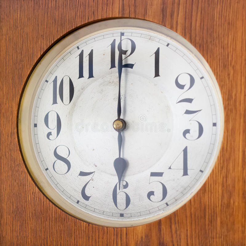 Εκλεκτής ποιότητας κτύπος που παρουσιάζει ρολόι 6 ο στοκ εικόνες