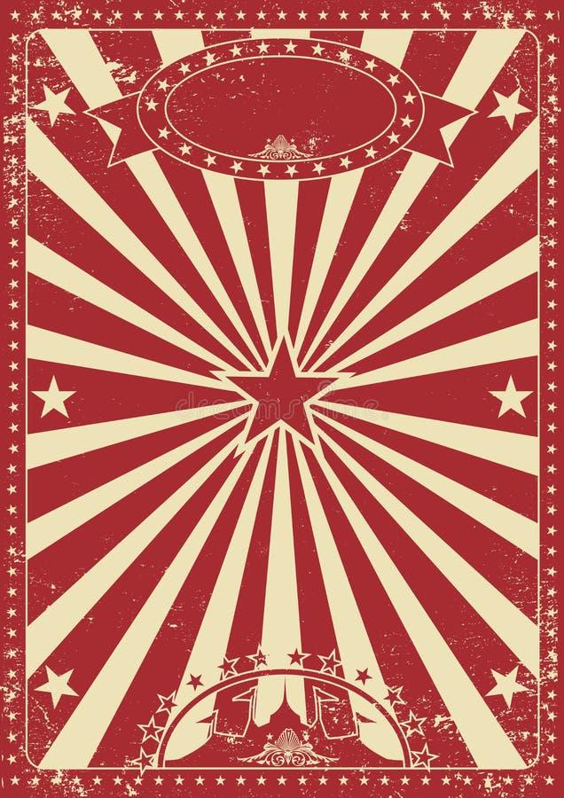 Εκλεκτής ποιότητας κόκκινο τσίρκο ελεύθερη απεικόνιση δικαιώματος