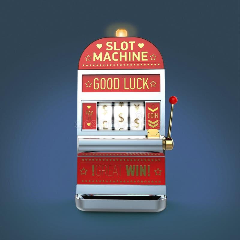 εκλεκτής ποιότητας κλασικό μηχάνημα τυχερών παιχνιδιών με κέρματα με τα εξέλικτρα συμβόλων νομίσματος απομονωμένο στο χρώμα το υπ απεικόνιση αποθεμάτων