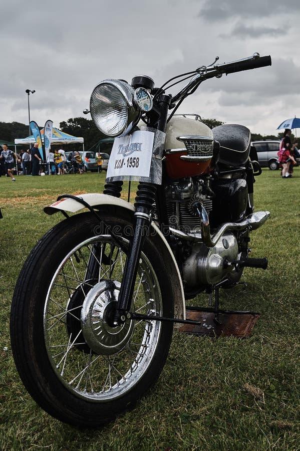 Εκλεκτής ποιότητας κλασικό moto θριάμβου 1958 στοκ φωτογραφία