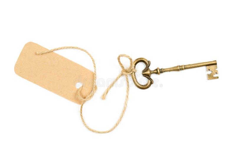 Εκλεκτής ποιότητας κλειδί με μια ετικέττα στοκ εικόνα με δικαίωμα ελεύθερης χρήσης