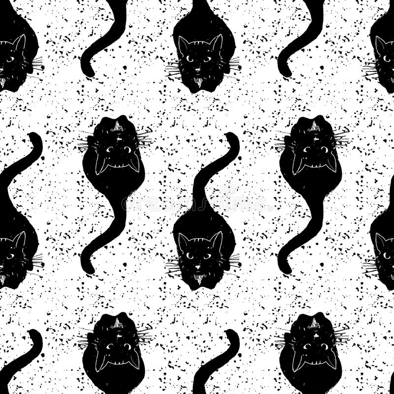 Εκλεκτής ποιότητας μαύρο σχέδιο γατών επίσης corel σύρετε το διάνυσμα απεικόνισης ελεύθερη απεικόνιση δικαιώματος