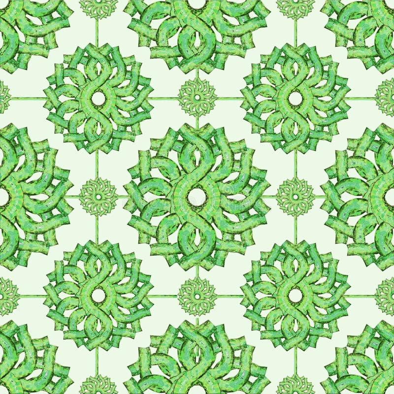 Εκλεκτής ποιότητας μπαρόκ άνευ ραφής Floral σχέδιο διανυσματική απεικόνιση