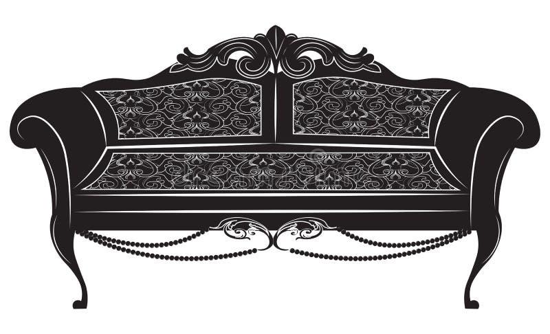 Εκλεκτής ποιότητας μπαρόκ αυτοκρατορικός καναπές απεικόνιση αποθεμάτων