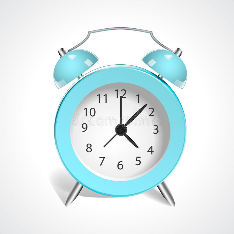 Εκλεκτής ποιότητας μπλε ρολόι στοκ εικόνες