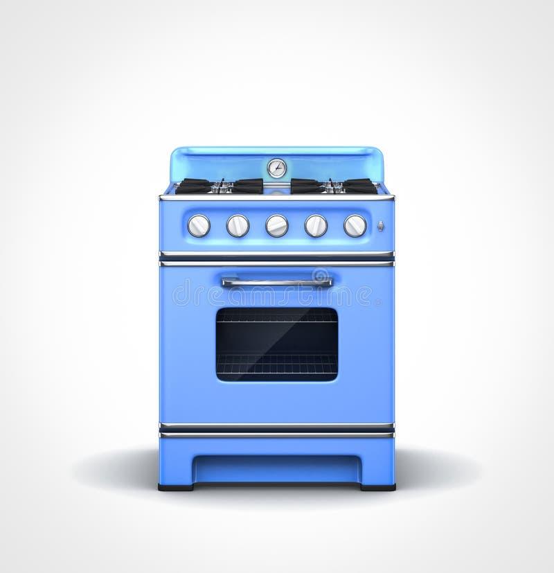 Εκλεκτής ποιότητας μπλε σόμπα διανυσματική απεικόνιση