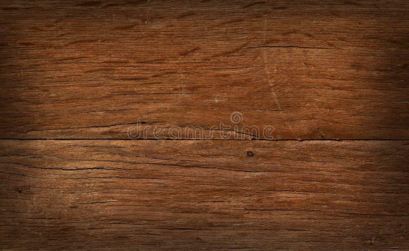 Εκλεκτής ποιότητας ξύλινος πίνακας με τις ρωγμές, τους ελέγχους και τα σκιασμένα σύνορα ελεύθερη απεικόνιση δικαιώματος