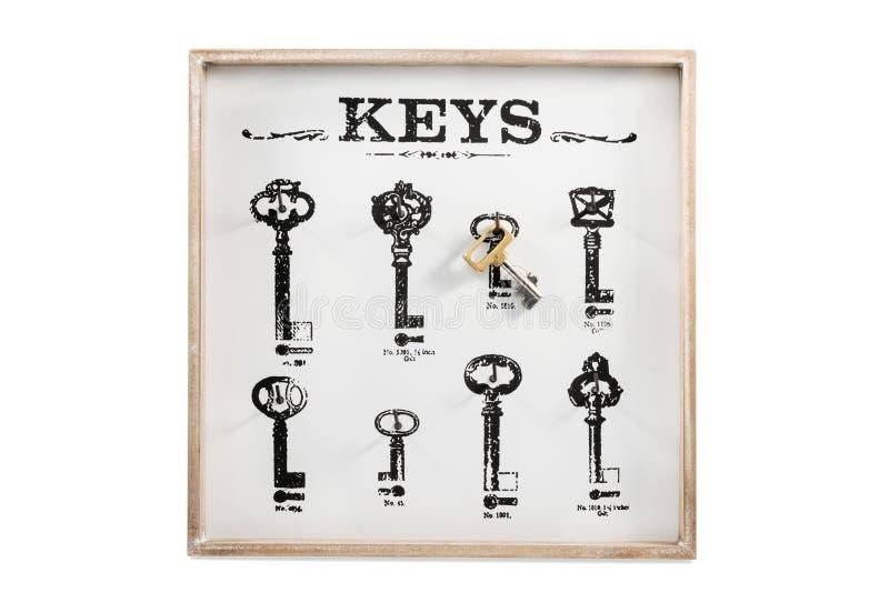 Εκλεκτής ποιότητας οικονόμος με ένα κλειδί στοκ φωτογραφία