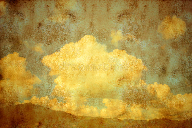 Εκλεκτής ποιότητας ουρανός και σύννεφα βουνών διανυσματική απεικόνιση