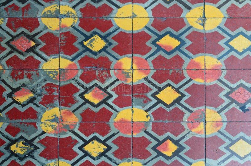 Εκλεκτής ποιότητας πάτωμα κεραμικών κεραμιδιών στοκ εικόνες