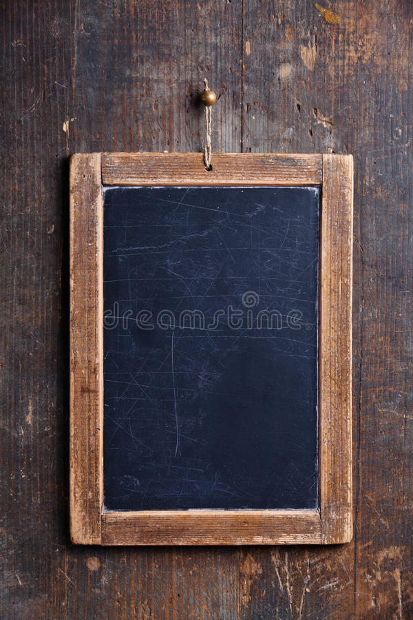 Εκλεκτής ποιότητας πίνακας κιμωλίας πλακών στοκ φωτογραφία