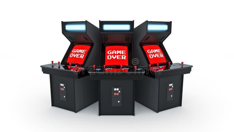 Εκλεκτής ποιότητας παιχνίδι έννοιας μηχανών παιχνιδιών arcade διανυσματική απεικόνιση