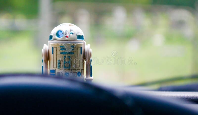 Εκλεκτής ποιότητας παιχνίδι R2-D2 Star Wars στοκ εικόνα με δικαίωμα ελεύθερης χρήσης