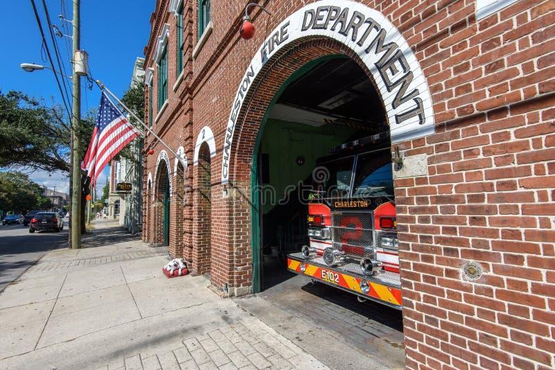 Εκλεκτής ποιότητας πυροσβεστικός σταθμός στο Τσάρλεστον, Sc στοκ φωτογραφία με δικαίωμα ελεύθερης χρήσης