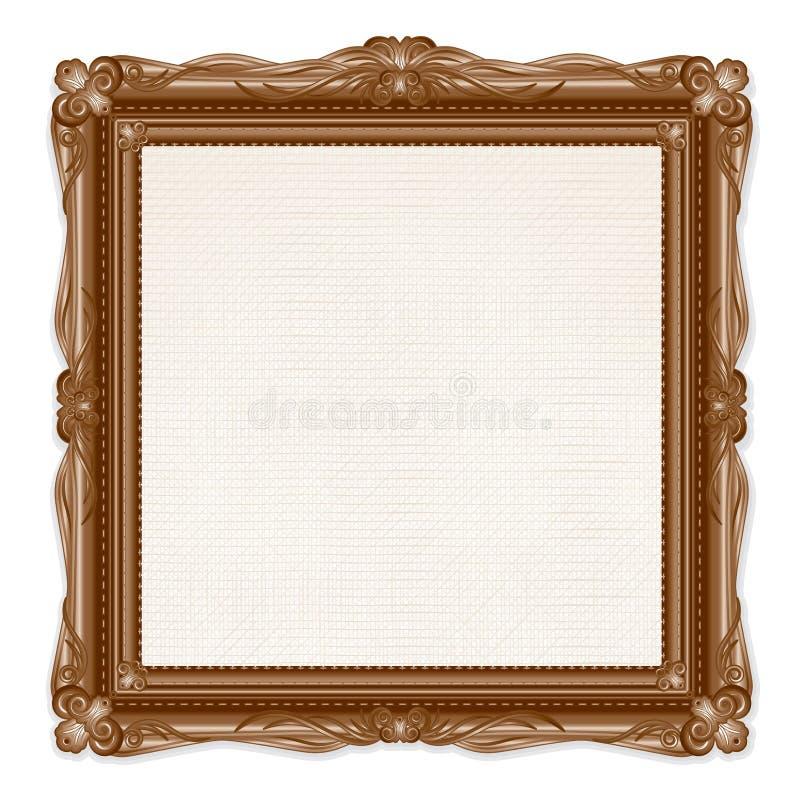 Εκλεκτής ποιότητας πλαίσιο εικόνων που απομονώνεται στο άσπρο υπόβαθρο διανυσματική απεικόνιση