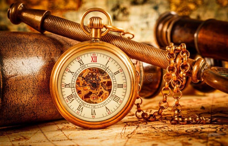 Εκλεκτής ποιότητας ρολόι τσεπών στοκ φωτογραφίες με δικαίωμα ελεύθερης χρήσης