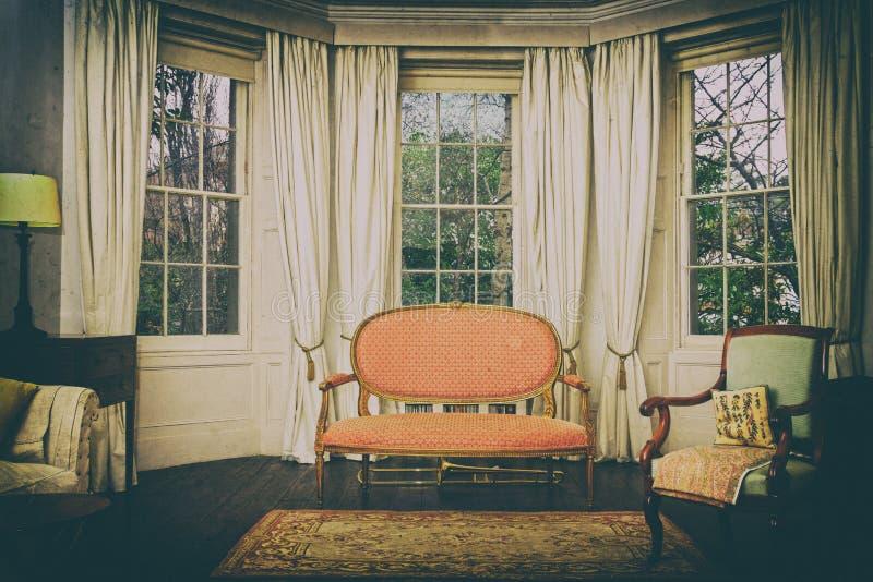 Εκλεκτής ποιότητας σαλόνι στοκ εικόνες