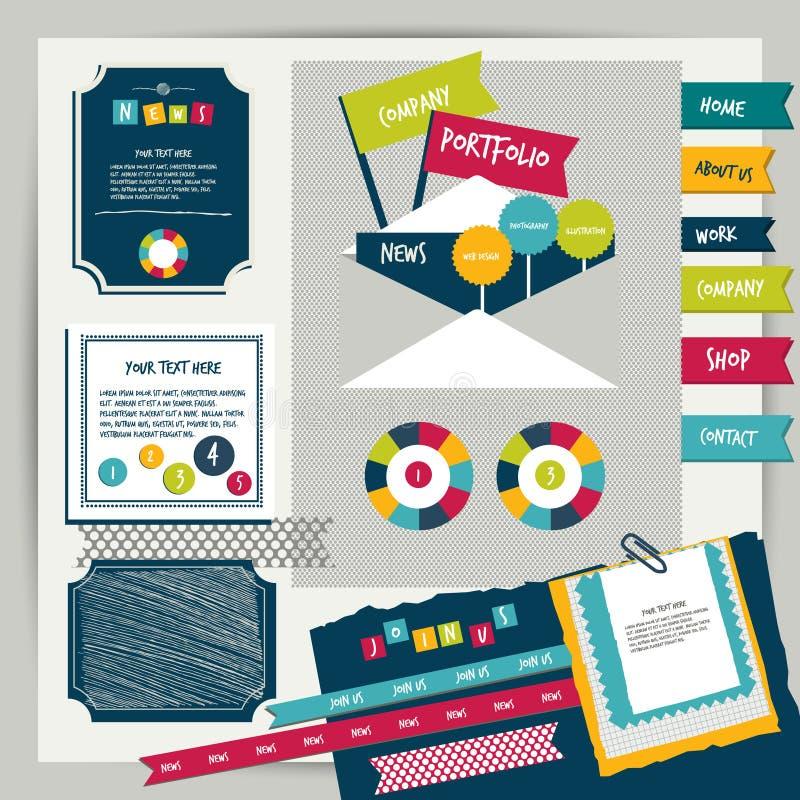 Εκλεκτής ποιότητας στοιχεία χαρτοφυλακίων σχεδίου Ιστού. ελεύθερη απεικόνιση δικαιώματος