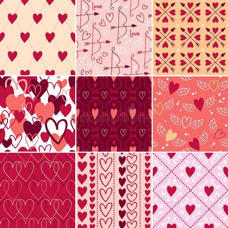 Εκλεκτής ποιότητας σχέδια καρδιών και συμβόλων αγάπης καθορισμένα διανυσματική απεικόνιση