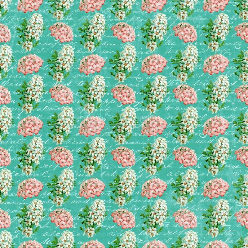 Εκλεκτής ποιότητας ταπετσαρία λουλουδιών στοκ εικόνα