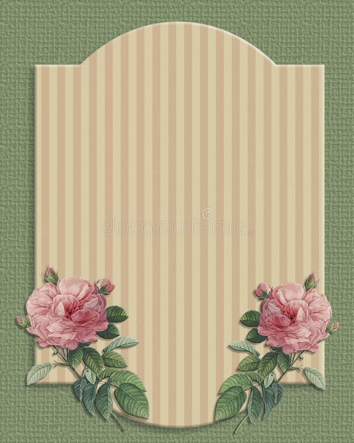 Εκλεκτής ποιότητας τριαντάφυλλα γαμήλιας πρόσκλησης ελεύθερη απεικόνιση δικαιώματος