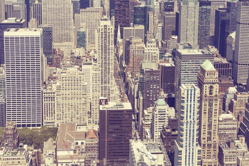 Εκλεκτής ποιότητας τυποποιημένη εικόνα του Μανχάταν, πόλη της Νέας Υόρκης στοκ εικόνες