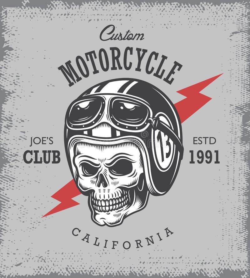 Εκλεκτής ποιότητας τυπωμένη ύλη μοτοσικλετών απεικόνιση αποθεμάτων