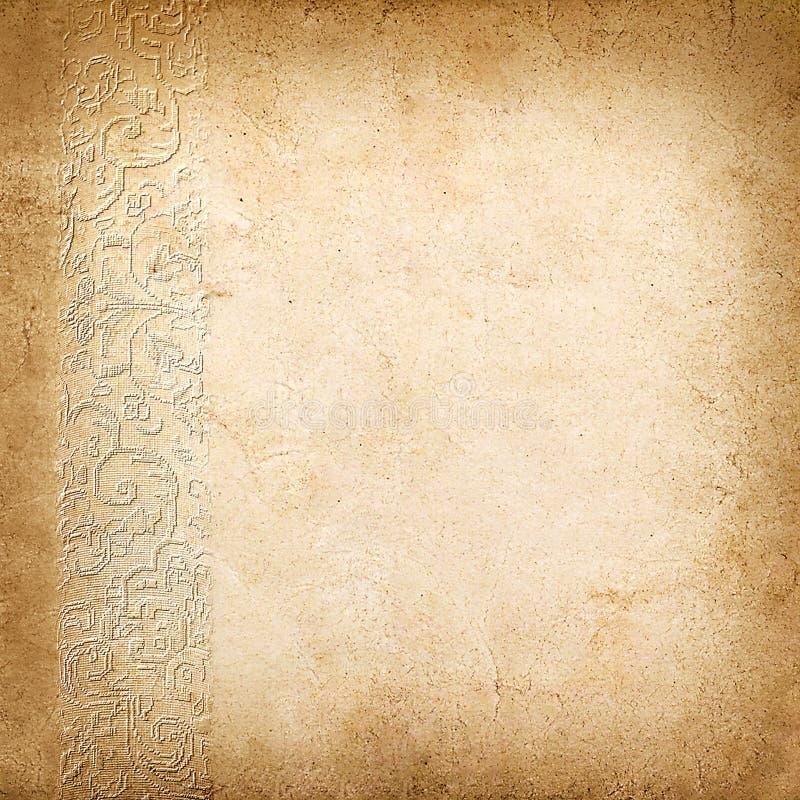 Εκλεκτής ποιότητας υπόβαθρο από το παλαιό έγγραφο με τη διακόσμηση στοκ εικόνες