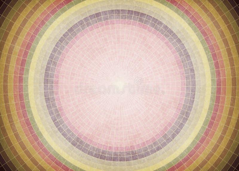 Εκλεκτής ποιότητας υπόβαθρο κύκλων Grunge απεικόνιση αποθεμάτων