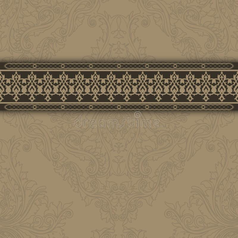 Εκλεκτής ποιότητας υπόβαθρο με τα διακοσμητικά περίκομψα σύνορα απεικόνιση αποθεμάτων