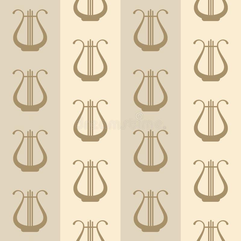 Εκλεκτής ποιότητας υπόβαθρο με τις άρπες διανυσματική απεικόνιση