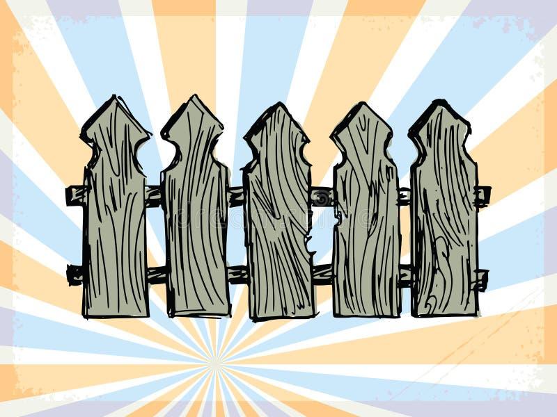Εκλεκτής ποιότητας υπόβαθρο με τον ξύλινο φράκτη ελεύθερη απεικόνιση δικαιώματος