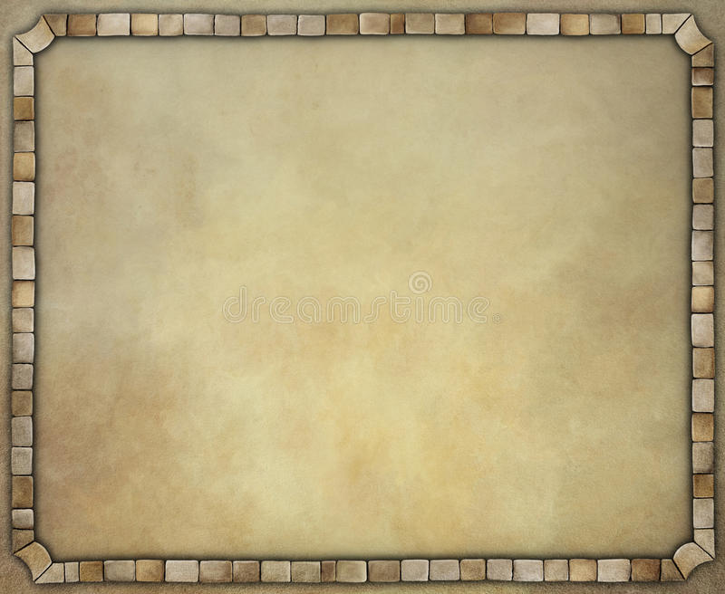 Εκλεκτής ποιότητας υπόβαθρο με το πλαίσιο πετρών διανυσματική απεικόνιση