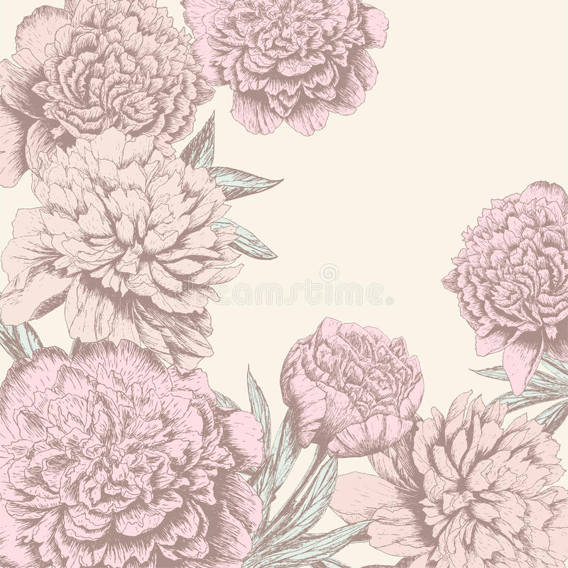 Εκλεκτής ποιότητας υπόβαθρο λουλουδιών διανυσματική απεικόνιση