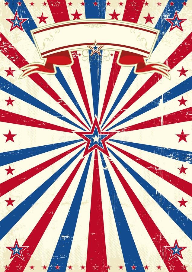 Εκλεκτής ποιότητας υπόβαθρο της Αμερικής στοκ εικόνα με δικαίωμα ελεύθερης χρήσης