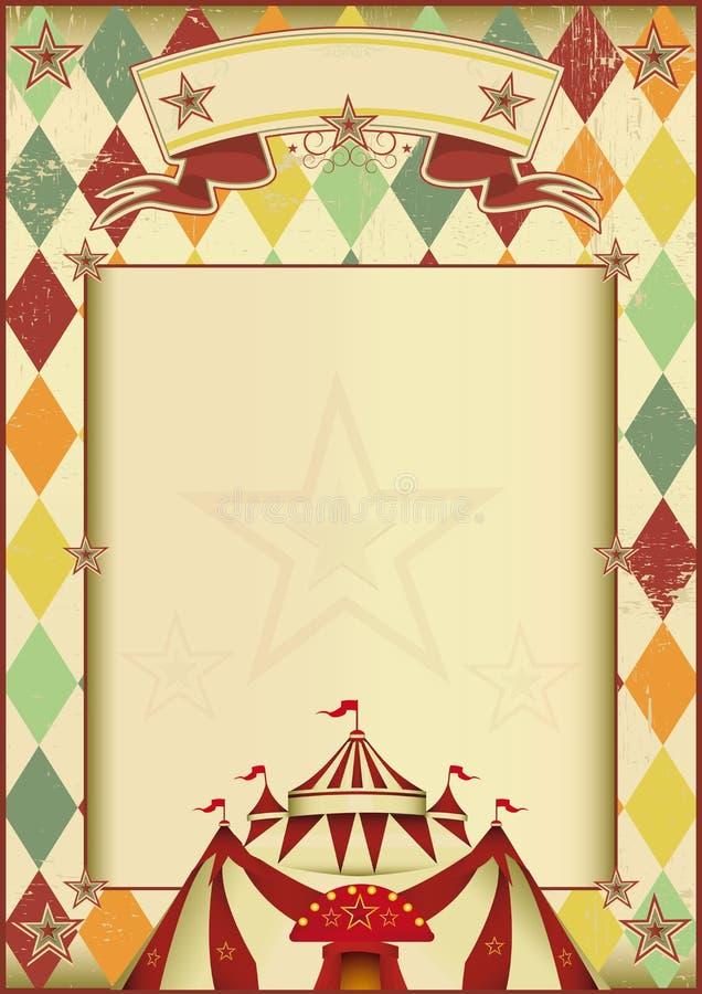 Εκλεκτής ποιότητας υπόβαθρο τσίρκων Rhombuses διανυσματική απεικόνιση