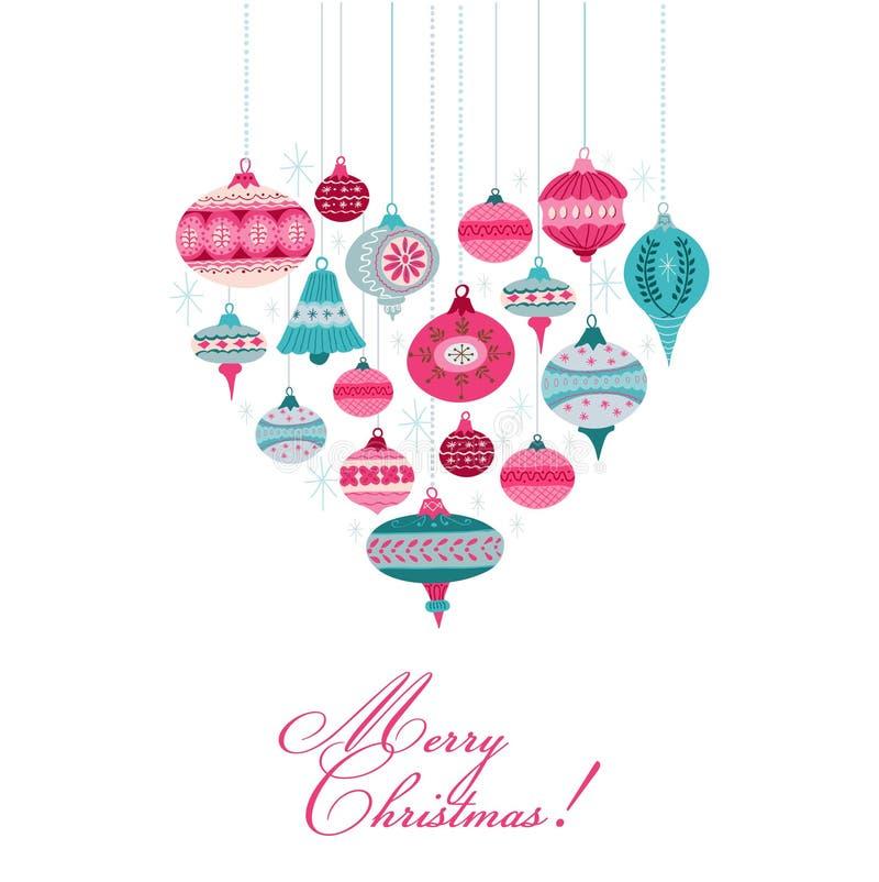 Εκλεκτής ποιότητας υπόβαθρο Χριστουγέννων - με τις σφαίρες χριστουγεννιάτικων δέντρων απεικόνιση αποθεμάτων
