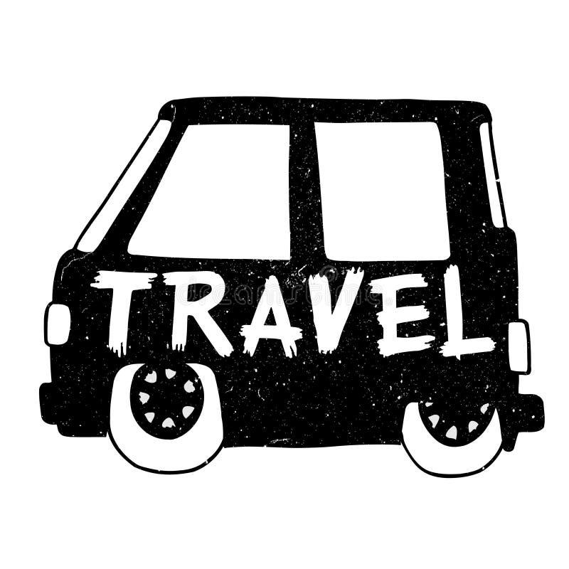 Εκλεκτής ποιότητας φορτηγό χίπηδων ελεύθερη απεικόνιση δικαιώματος