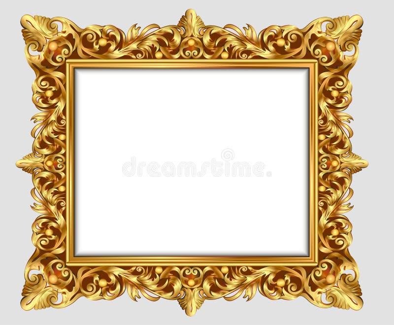 Εκλεκτής ποιότητας χάραξη πλαισίων συνόρων απεικόνισης με την αναδρομική διακόσμηση ελεύθερη απεικόνιση δικαιώματος