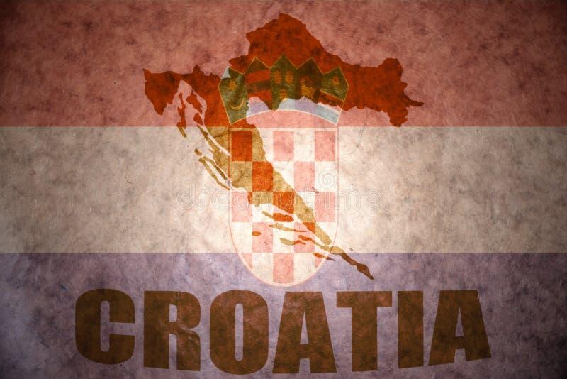 Εκλεκτής ποιότητας χάρτης της Κροατίας στοκ φωτογραφία με δικαίωμα ελεύθερης χρήσης