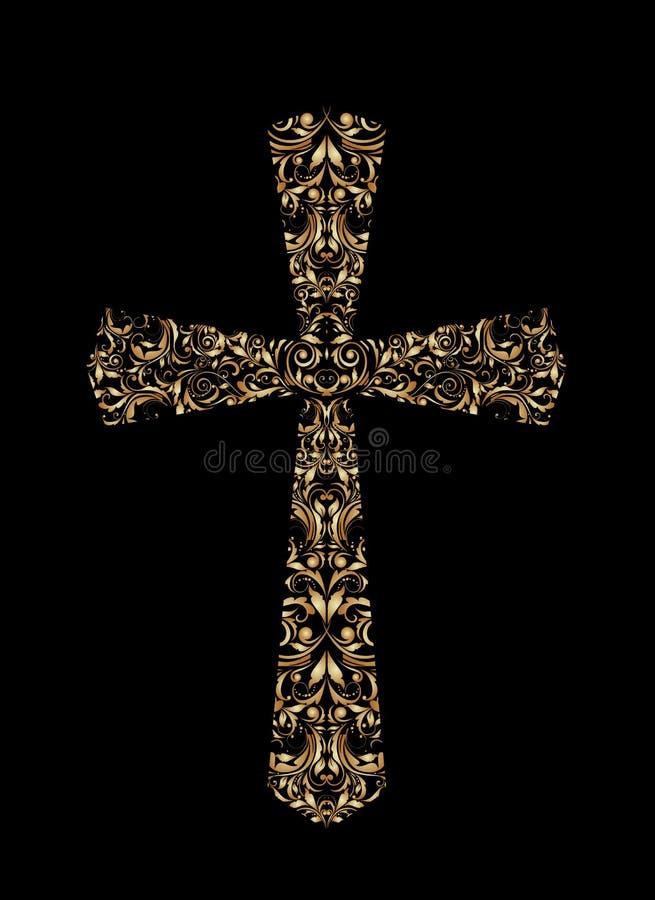 Εκλεκτής ποιότητας χριστιανικός σταυρός διανυσματική απεικόνιση