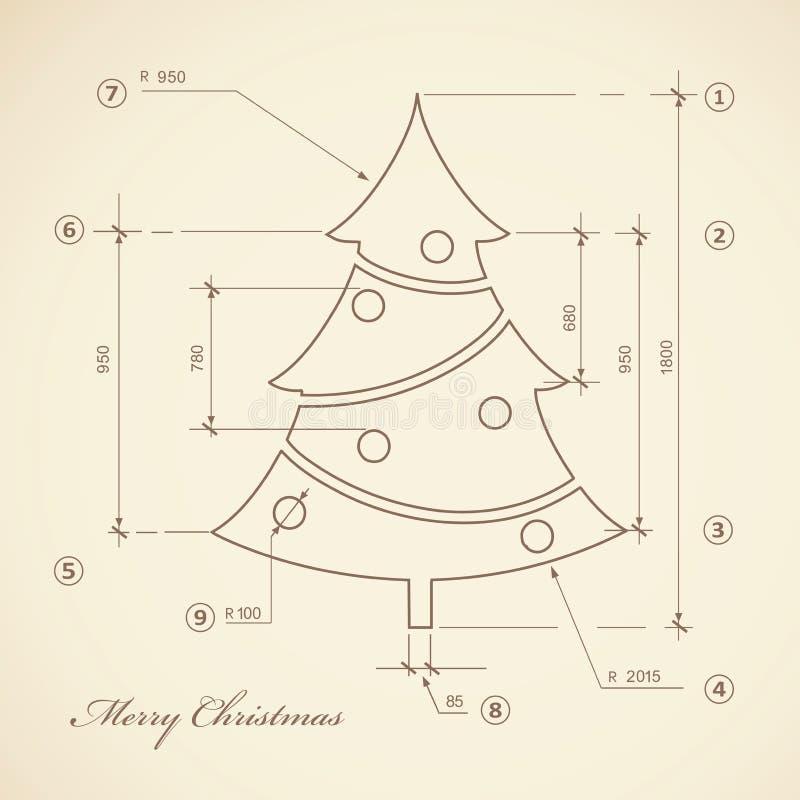 Εκλεκτής ποιότητας Χριστούγεννα διανυσματική απεικόνιση